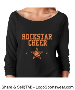 Rockstar Cheer Orange Glitter black off shoulder Design Zoom