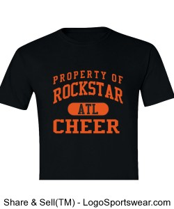 Men's Property of Rockstar ATL Cheer Design Zoom